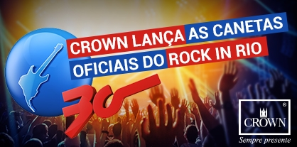 Crown lança as canetas oficiais do Rock in Rio